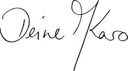 """Unterschrift """"Deine Karo"""""""