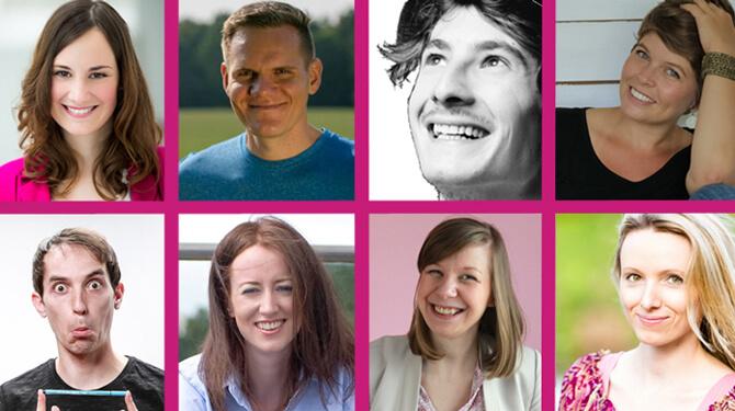 Blogger Katrin Hill, Patrick Hundt, Ben Paul, Simone Sauter, Walter Epp, Isabel Garcia, Janneke Duijnmaijer, Michaela Forstik