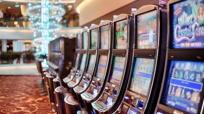 Spielautomaten im Casino