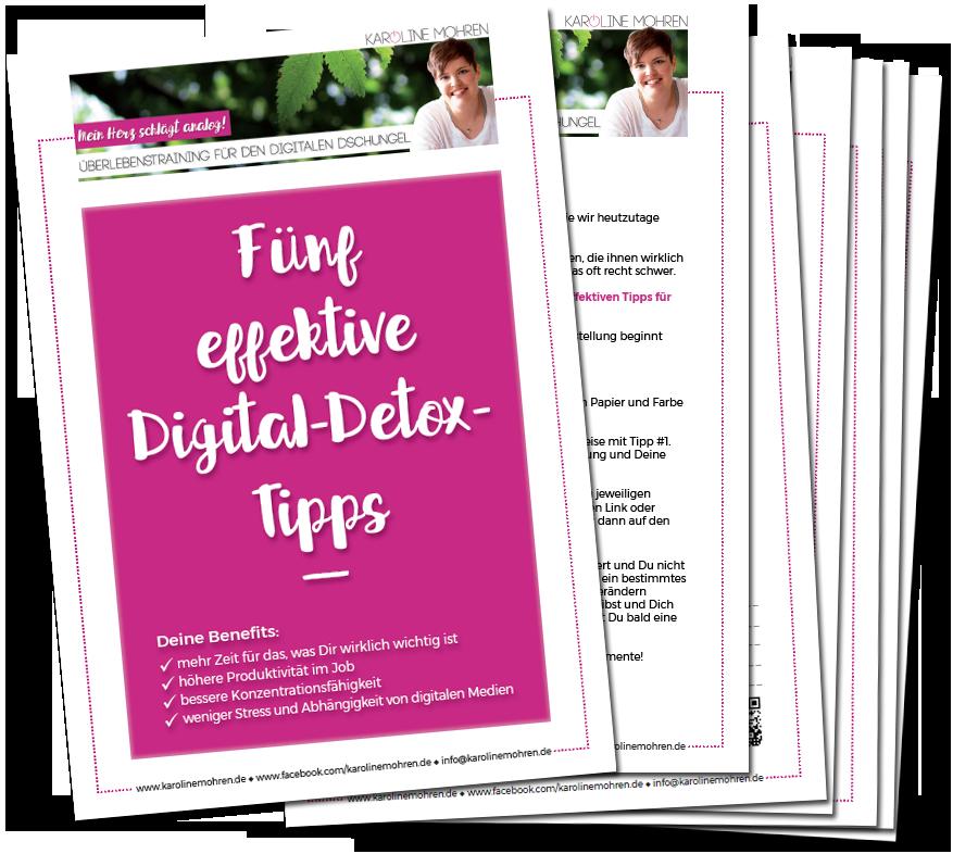 Bild vom PDF 'Fünf effektive Digital-Detox-Tipps'