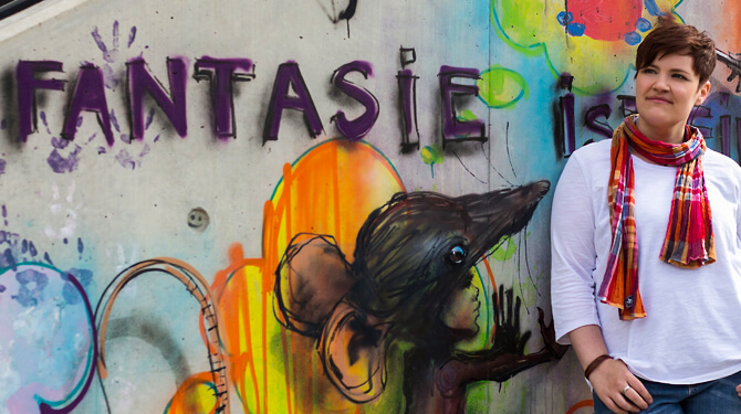 Karo vor Graffiti