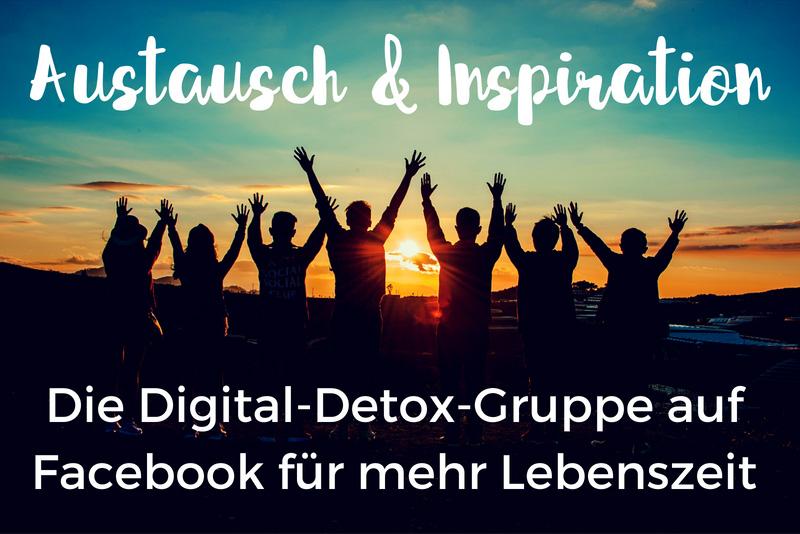 Link zu Facebook-Gruppe Digital-Detox-Community für mehr Lebenszeit